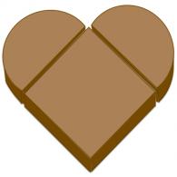 Chocolate heart-shaped raspberry cake