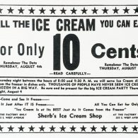 10 cents for all you can eat ice cream! Crazy!