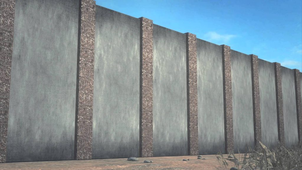 Image result for southern border wall